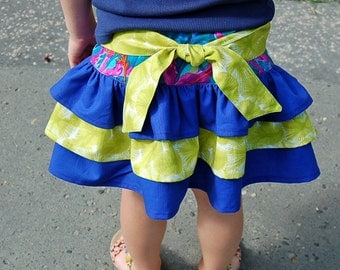 ChArLoTTe  RuFFle with SaSSy bOw Skirt - pdf tutorial - ebook - 3M - 8Y