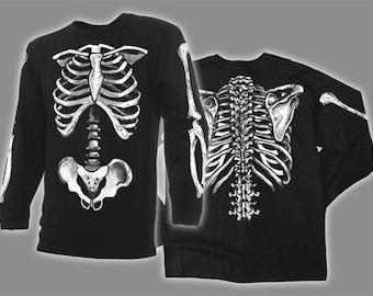 SKELETON BONES  - Long Sleeve T-shirt the original costume x-ray radiology scorn