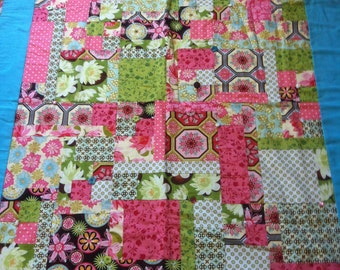 Not Quite Girly Patchwork Quilt