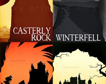 Game of Thrones Inspired Travel Poster Magnets