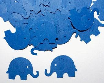 50 Blue Elephant Confetti, Die Cut Elephants, Elephant Birthday Party, Boy Baby Shower, Table Scatter, Scrapbook, Royal Blue