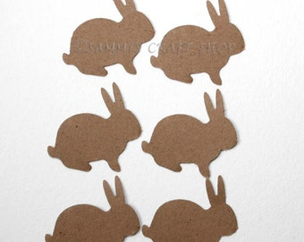 100 Brown Bunny Confetti, Bunny Cutouts, Party Supplies for Easter Party, Birthday Party, Baby Shower