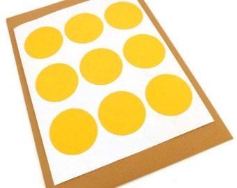 Round Sticker - Circle Sticker - Round Label - Yellow Sticker - Baby Shower - Wedding Favor Sticker - 48 count - Envelope Seal - 1.25 inch