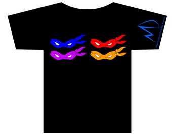 TMNT Teenage Mutant Ninja Turtles Masks 2 T-shirt
