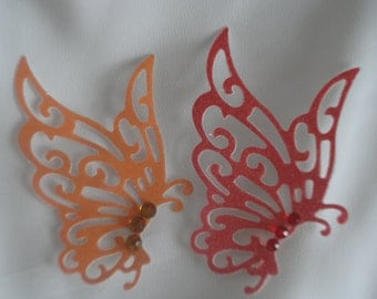 5 Hovering Lacy Butterfly Die Cuts
