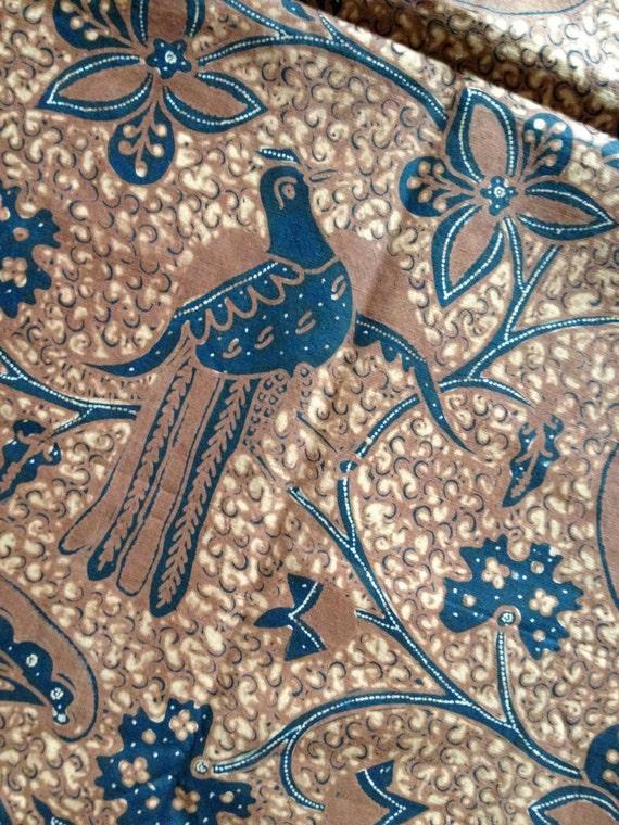 Batik Tulis Solo Style Javanese Indonesian Sogan Brown Head Scarf Wrap ...