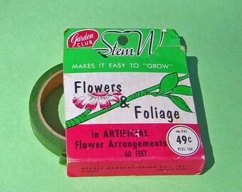Vintage 1950 Era Artificial Flower Stem Wrap