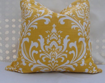 Two 20x20 Pillow Covers,  corn/yellow pillow cover.,20x20 Pillow Cover with zipper closure, Throw Pillow