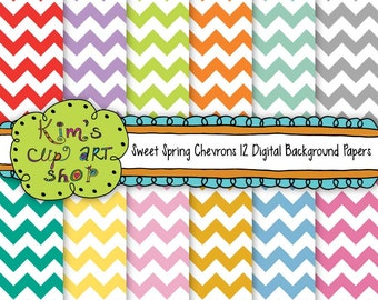 Chevron Digital Background Papers, Chevron Scrapbooking, Digital, Chevron Scrapbook Paper, Digital Scrapbook Paper, digital background