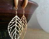 Gold Leaf Gauged Earrings