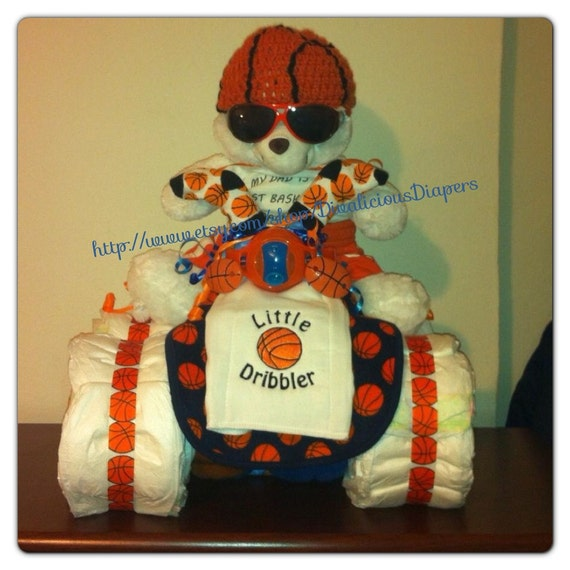 Sports Themed Diaper Creation Diaper Cake Baby Shower Gift
