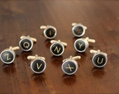 Mens cufflinks (initials) from a 1953 Imperial Model T Companion Typewriter