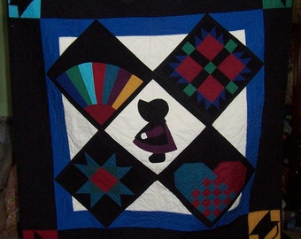Sunbonnet Sue Amish Wall Hanging/Baby Quilt