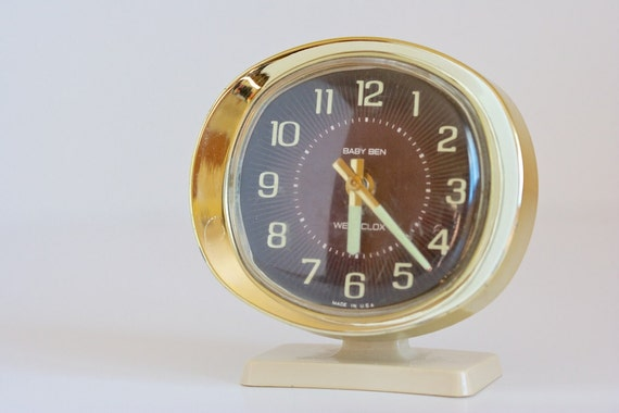Westclox Baby Ben Vintage Working Wind Up Alarm Clock With