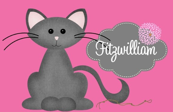 Cat Placemat, Cat Foot Mat, Pet Placemat, Pet Food Mat, Personalized Pet Placemat, Laminated Placemat, Cat