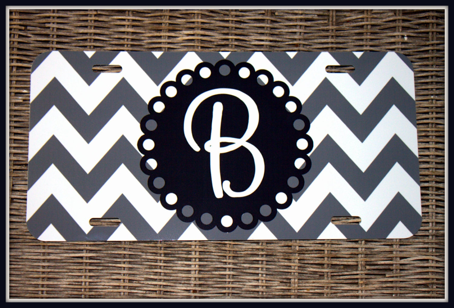 Car Tags: Personalized Monogrammed License Plate Car Tag Monogram