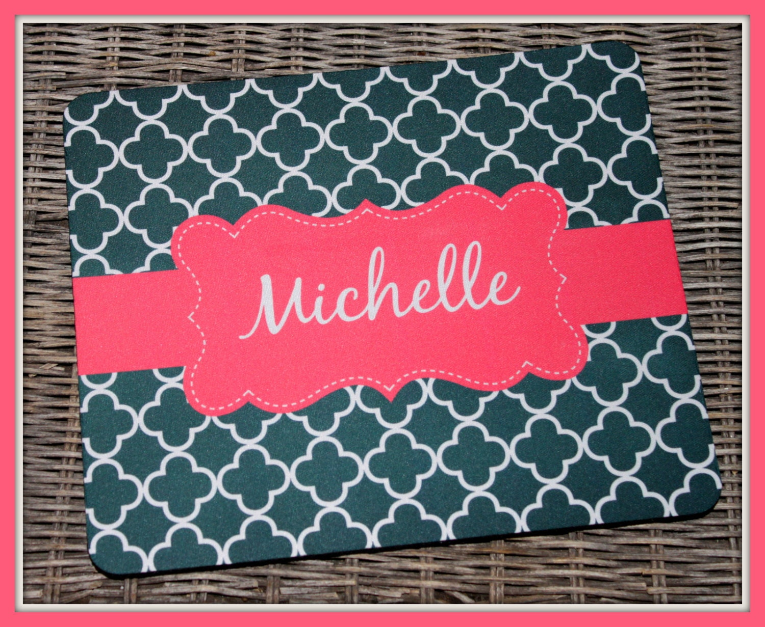 personalized mouse pad personalized mousepad monogrammed