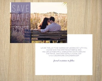 Photograph Save the Date Postcard