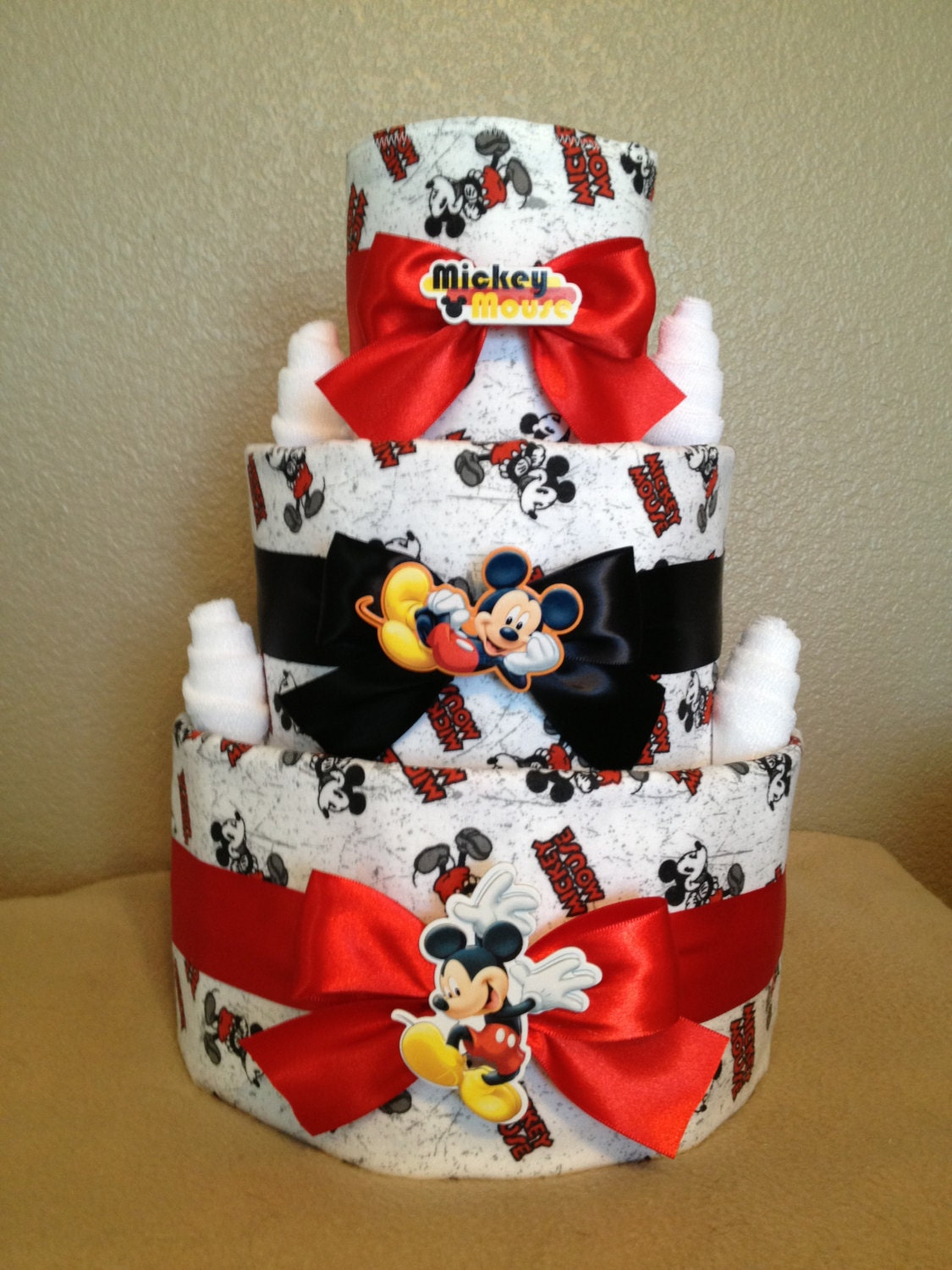 tier mickey mouse diaper cake