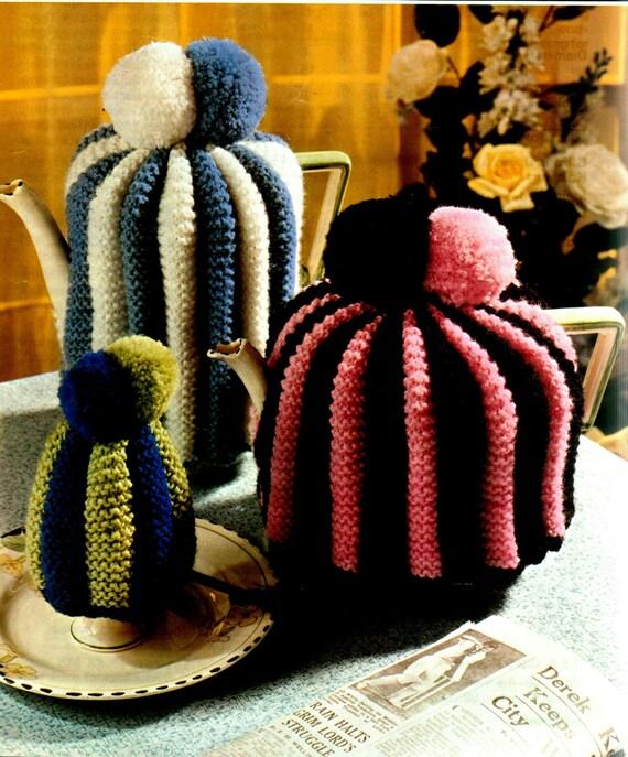 Coffee Pot Cosy Knitting Pattern : Items similar to Vintage Knitting Pattern PDF Tea Cosy Eggie Coffee pot Cosie...