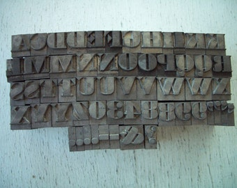 RC1 -  AWESOME Chunky LETTERPRESS Lot - Almost all Inclusive