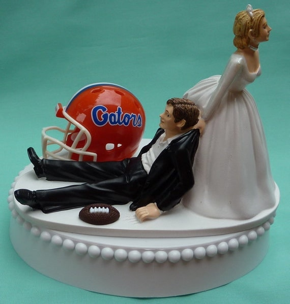 florida gator wedding cake toppers wedding cake topper of florida gators uf football 14326