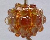 Handmade Lampwork Hollow Glass Focal Bead - Yonkers