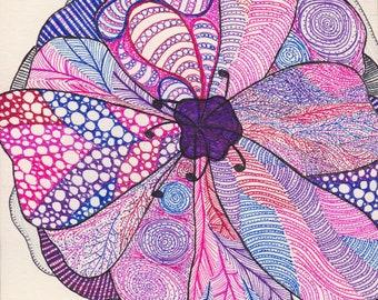 Large flower detailed pattern design