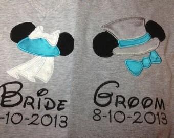 Bride and Groom Disney shirts - Set