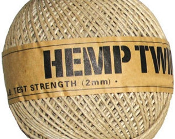 2mm Hemp Twine cord 265ft