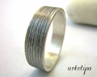 Personalized Sterling Silver Ring / Band.. Best Gift.. Hammered oxidized sterling silver Ring / Wedding Band.. Custom / Personalized Ring..