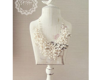 Pearl White,Pearl Necklace,Bridal Necklace,Wedding Jewelry,Bridal Accessory,Jewelry,Wedding Accessory