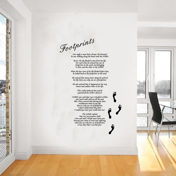 Footprints Wall Decor : Footprints in the sand wall art wa by atlouddesigns on etsy