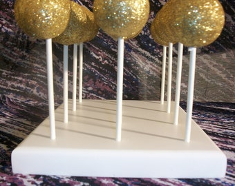 Handcrafted 12 Hole Cake Pop Stand Holder Pops