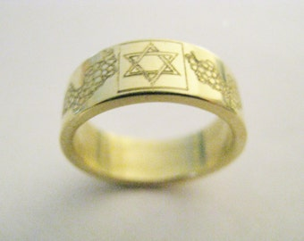 Jewish wedding rings Etsy