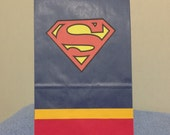 Superman inspired birthday party/treat bags