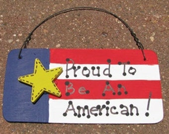 Patriotic Sign 10977PBA - Proud to Be An American