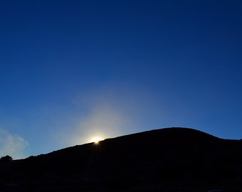 Sun setting on Mauna Kea, Hawaii - 8x10 metallic print