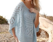 Hand Knitted poncho / top / sweater / vest for women - BeautifulSunrise