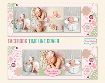 Instant Download Facebook Timeline Cover Template - PT039