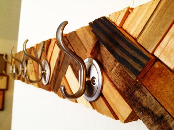 Rustic chevron coat rack sweet artistic hanger created from for Artistic coat hooks