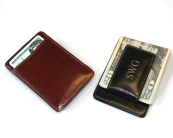 Milan Leather Money Clip Wallet - A Great Groomsmen Gift