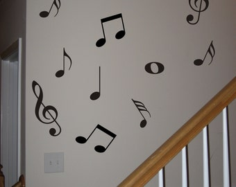 42 Music Notes Vinyl Decal Wall Art Decor Stickers