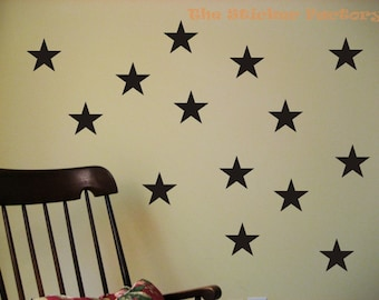 36 3 inch Stars Vinyl Decal Wall Art Decor Stickers