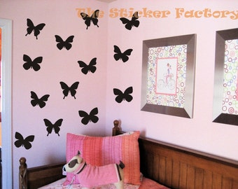 35 3 inch Butterfly Vinyl Decal Wall Art Decor Stickers