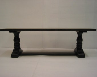Wooden Bench / Hallway Seat / Trestle Bench / Pine Rustic Bench / Kitchen Bench