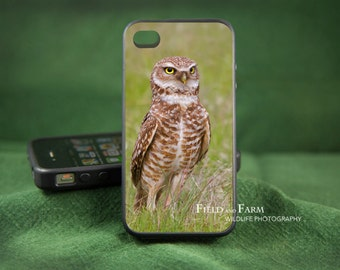 BURROWING OWL  iPhone 6, 5/5s, 4/4s, Samsung Galaxy S3, S4, S5 Case