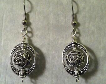 Antiqued Silver Earrings