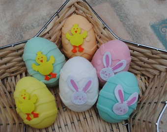 novelty egg soaps x 2 soaps