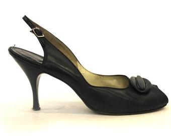 1950s peep toe shoes